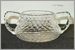 ABP Libbey Honeycomb Cut Crystal Sugar Bowl