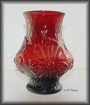 Anchor Hocking Ruby Red Glass Rainflower Flower Vase