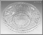 Anchor Hocking Thousand Line Glass Vegetable Bowl Stars & Bars Rainbow Stars