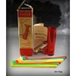 19th Hole Bar Drink Kit Golf Bag Jigger Golf Club Stirrers Orig. Box Pour card